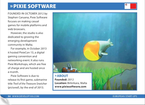 PixieSoftware features in Develop's Europe's most exciting startups